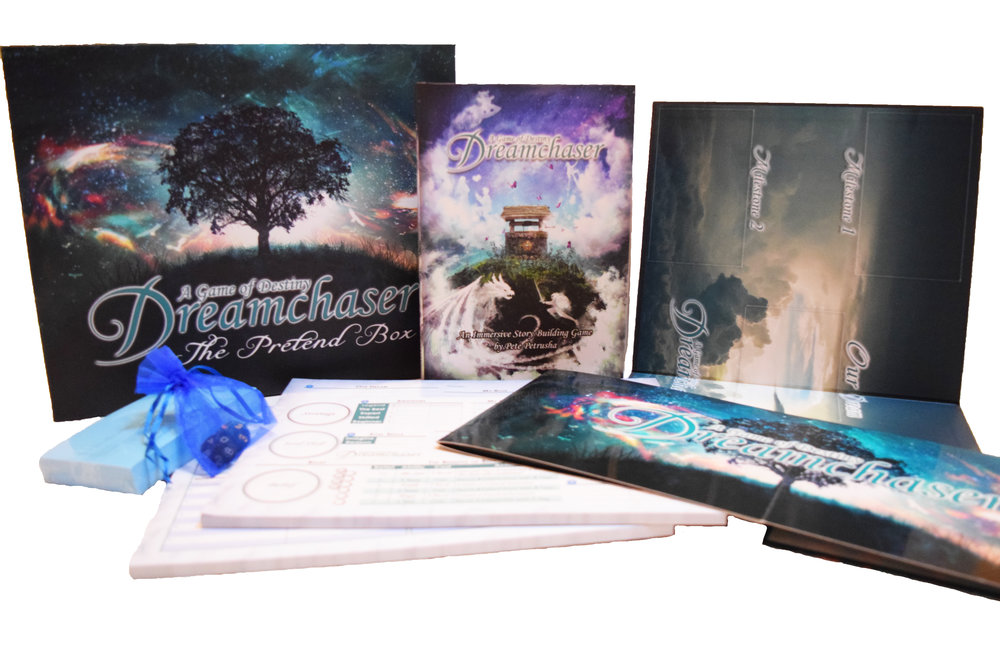 Contents of the  Dreamchaser: Pretend Box  Set.