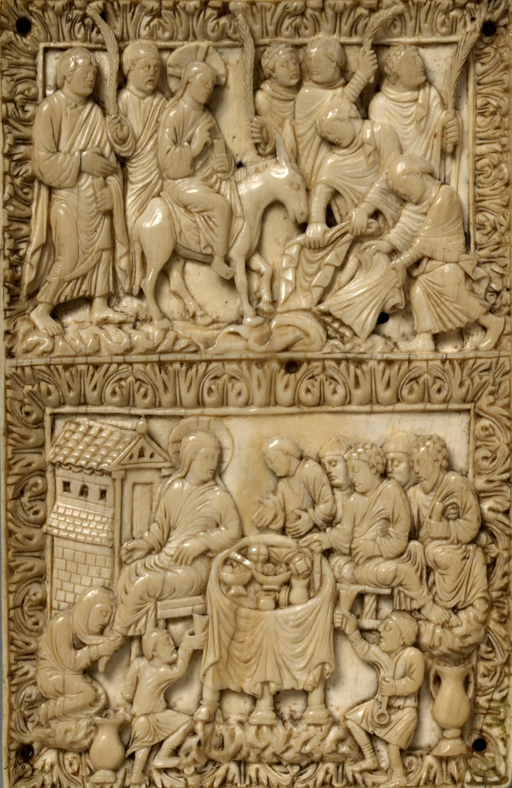 Entry into Jerusalem, Christ in the House of Simon,  c. 870-880 V&A ivory 257-1867