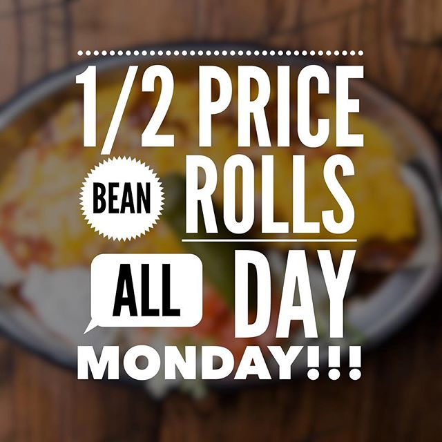 Come get a 1/2 price bean roll and listen to some great music during songwriters night tonight!