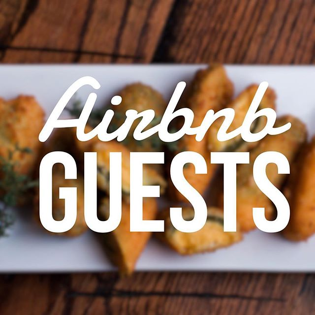Hey Airbnb guests! Thanks for visiting Nashville! Bring your Airbnb confirmation for an appetizer on us!