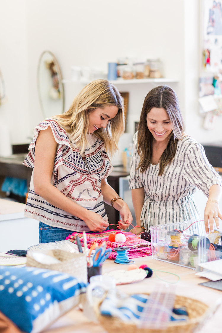 Lauren Conrad, left, and Hannah Skvarla, cofounders of nonprofit The Little Market.