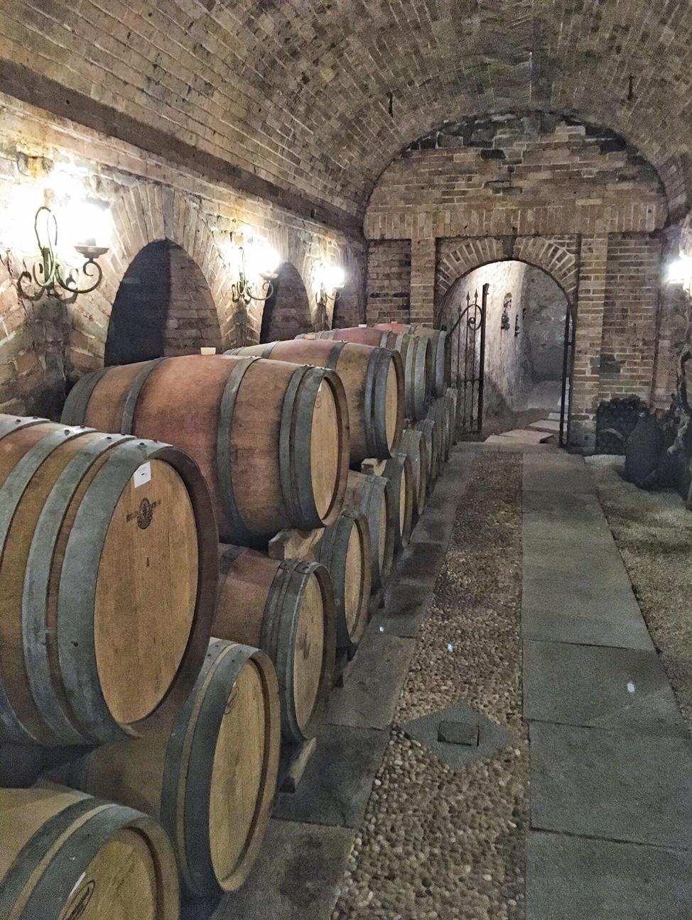 Underground cellar at Casino Chicco