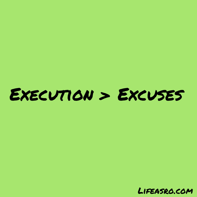 execution> excuses