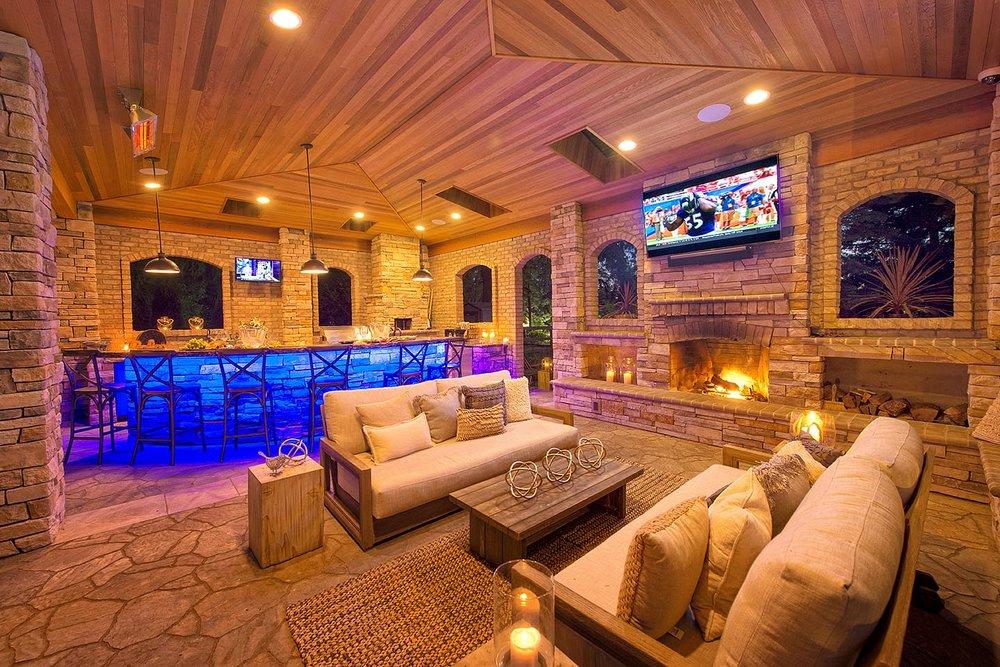 Custom patio bar