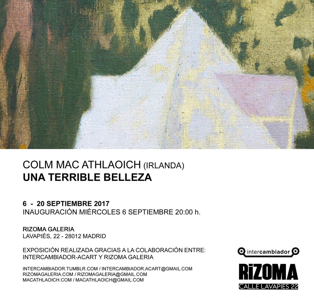 Una Terrible Belleza  6 - 20 September 2017  Rizoma Galeria, Lavapies, Madrid  Spain