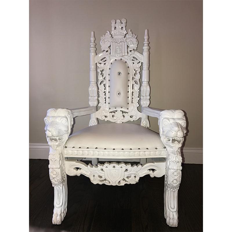 White U0026 Gold Lion Throne Chair