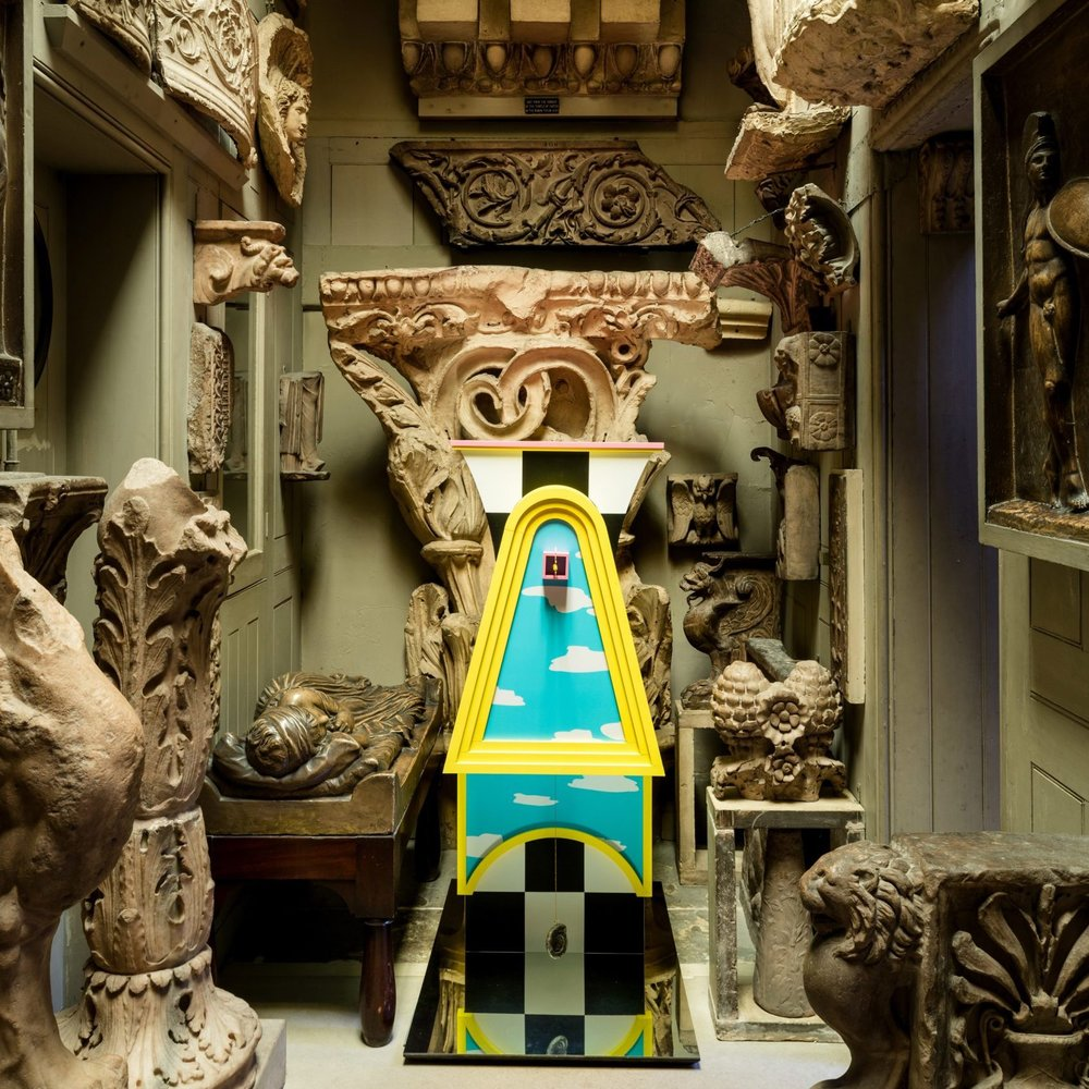 Out of Character   Inspired by John Soane's  Crude Hints towards an History of my House , this project by Studio MUTT sees four architectural characters installed around the Soane Museum, playfully illustrating how colour, ornament and decoration can give meaning to architecture.
