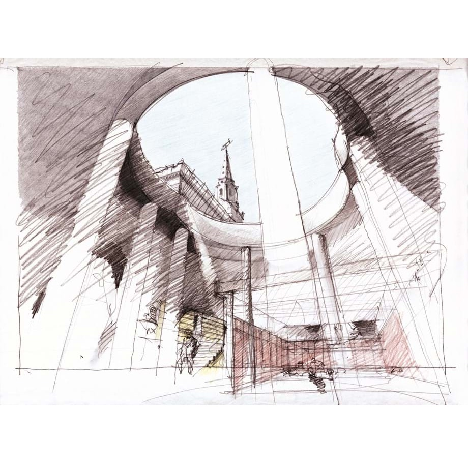 Eric Parry Drawing   Eric Parry is an architect who draws. This exhibition is about the interaction and relationship of those two practices – exploring drawing as a design tool, and as a way of engaging with the world in which buildings exist and which they play a part in shaping.