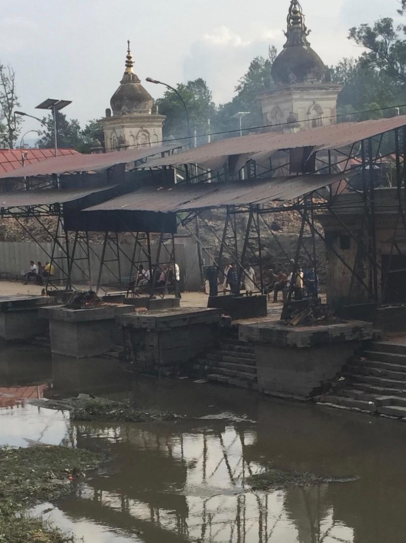 Hindu cremations at Pashupatinath Temple, Kathmandu, Nepal.