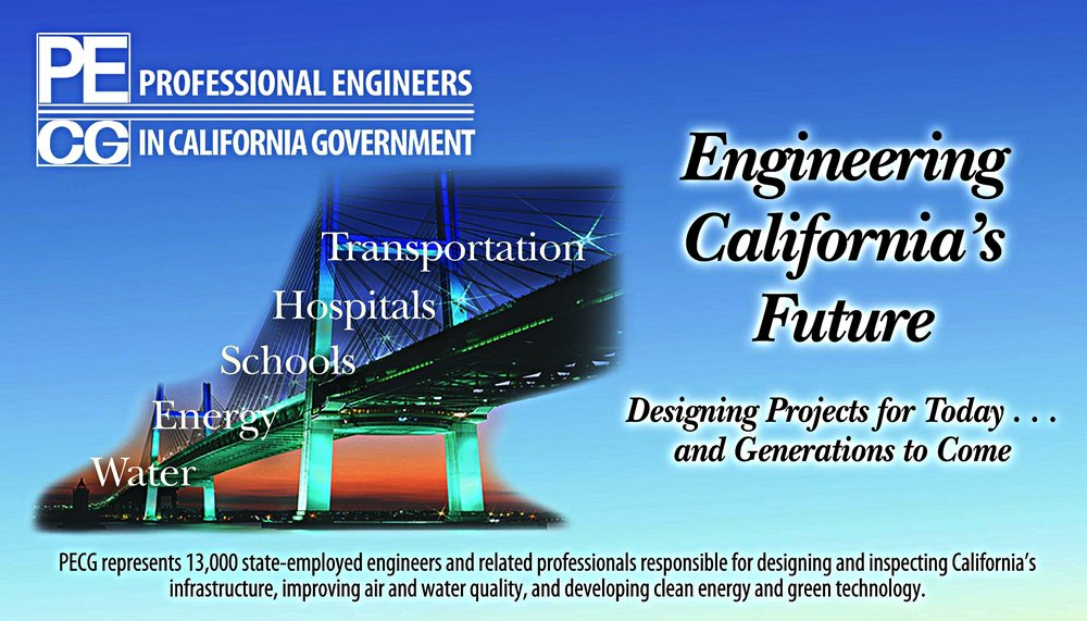 The Professional Engineers in California Government (PECG) represents 13,000 state-employed engineers and related professionals who are responsible for designing and inspecting California's infrastructure, improving air and water quality, and developing clean energy and green technology.  The PREP effort began as a PECG program in December 2014 and PECG continues to be the Platinum Sponsor of our organization through the donation of staff time, resources, and mentors.  We would not exist without the extensive and generous support from PECG. - www.pecg.org