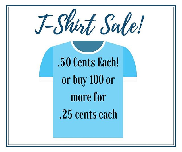 Come in this week to take advantage of our t-shirt sale! . . . #shoplocalraleigh #raleighnc #raleigh #thriftstorefinds #wakeforestnc #carync #garnernc #raleighlocals #raleighnonprofit
