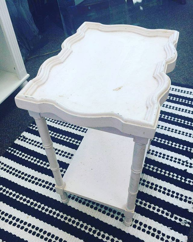 One of our customers is an avid DIY artist! She gave this table a white wash for a more modern look. Beautiful job!  #ourcustomersrock #raleighnonprofit #DIY #shoplocalraleigh #weloveourcustomers