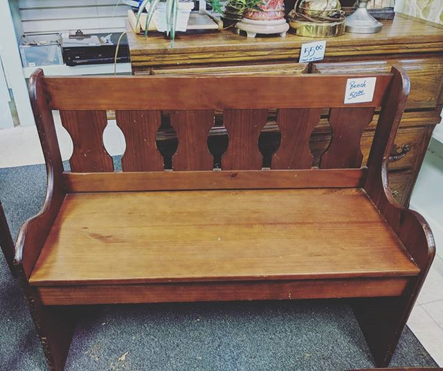 Today is 50% off furniture at Recovered Treasures! Stop in for unique furniture like this bench. 🎉 #shoplocalraleigh #raleigh #raleighnonprofit
