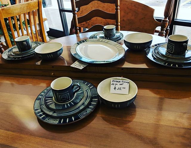 Looking to bring a fresh new look to the table? We are constantly restocking dish sets. Stop in today!  #raleighnc #thriftstorefinds #raleighnonprofit