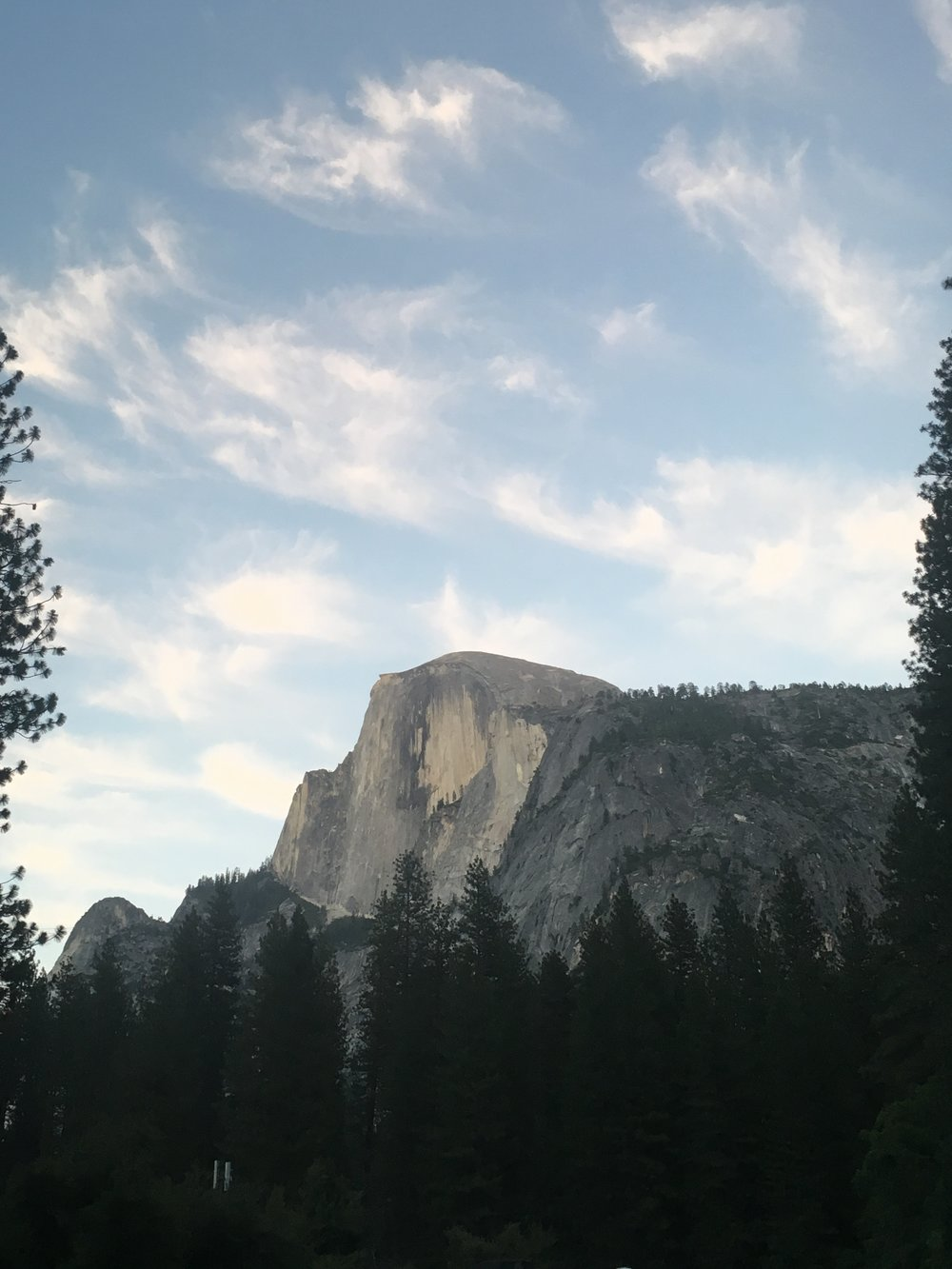 Half Dome at pastel hour, Yosemite National Park