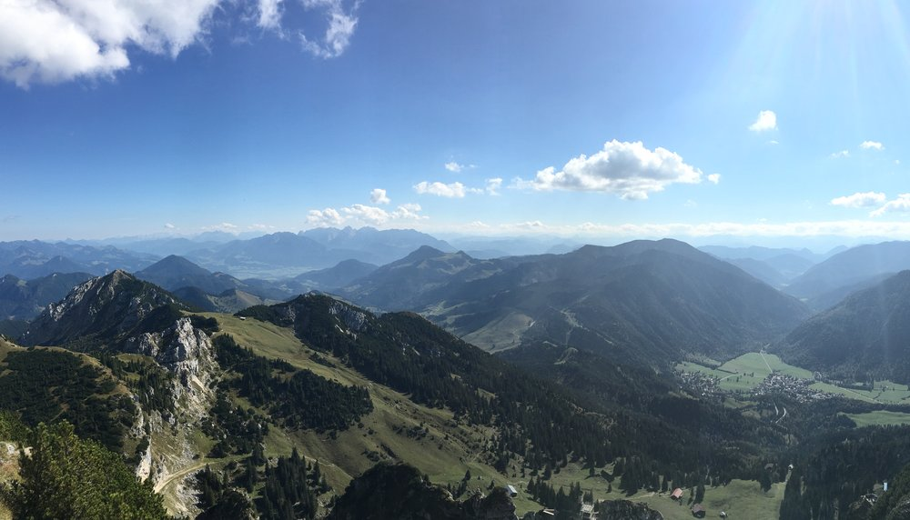 Stunning views from the top of Wendelstein Mt.
