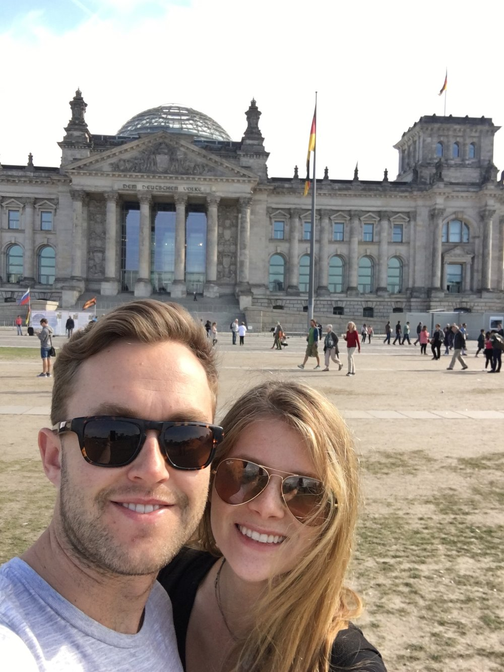 Dain and Sam at Reichstag Building, Berlin