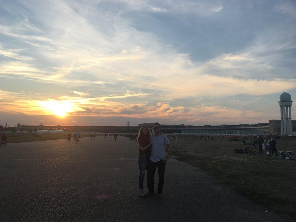 Sunset at Tempelhofer, Berlin