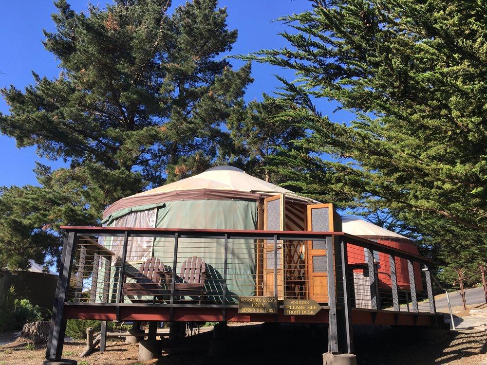 Our yurt, Treebones, Big Sur