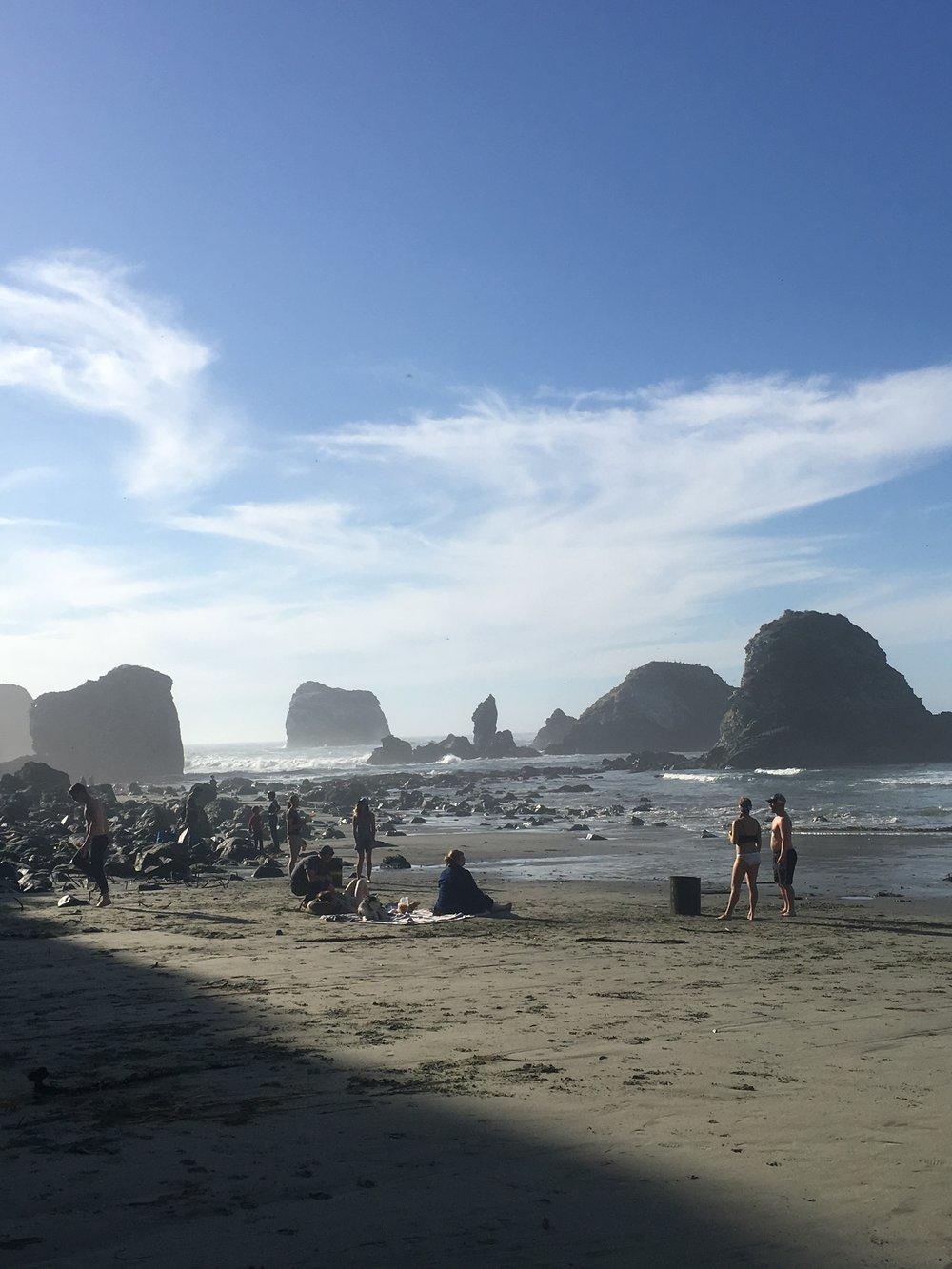 Rocks and waves, Sand Dollar Beach, Big Sur