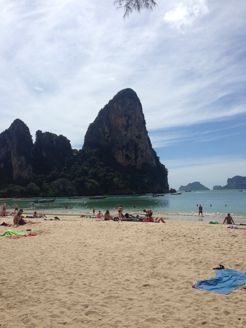 Cliffs over Railay Beach, Ao Nang, Thailand