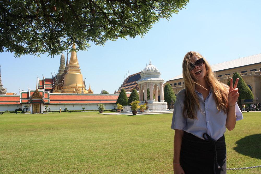 Rocking modest clothes, Grand Palace, Bangkok