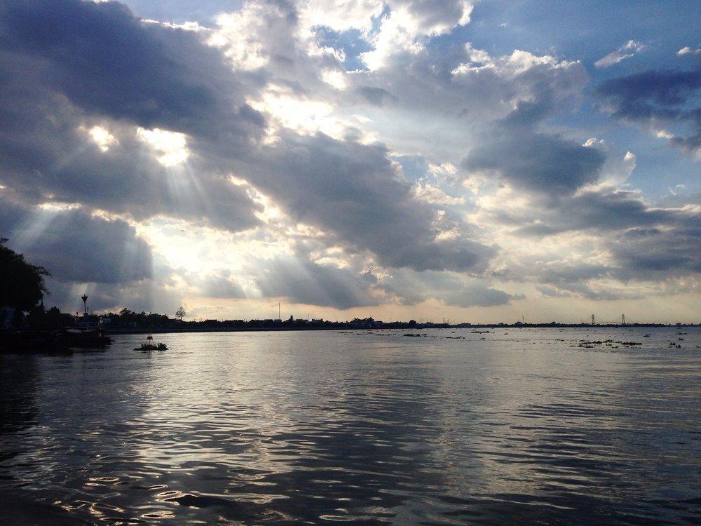 Ferry from Vien Long to An Binh, Mekong River Delta, Vietnam