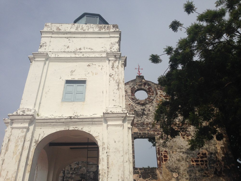 Church, left, and fort, right, of A Famosa
