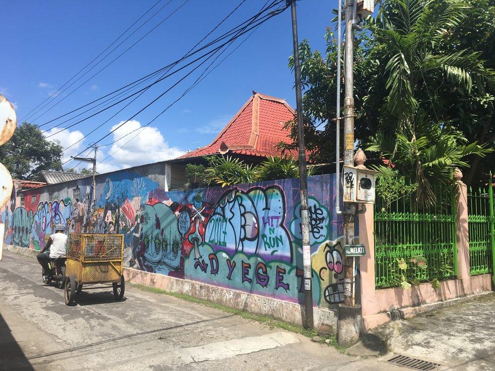Graffiti outside the art school, Yogya