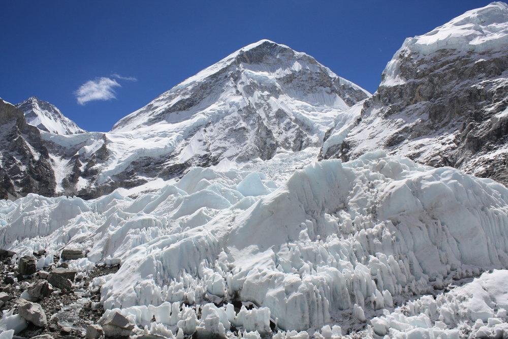 Close-up of the Khumbu Ice Falls