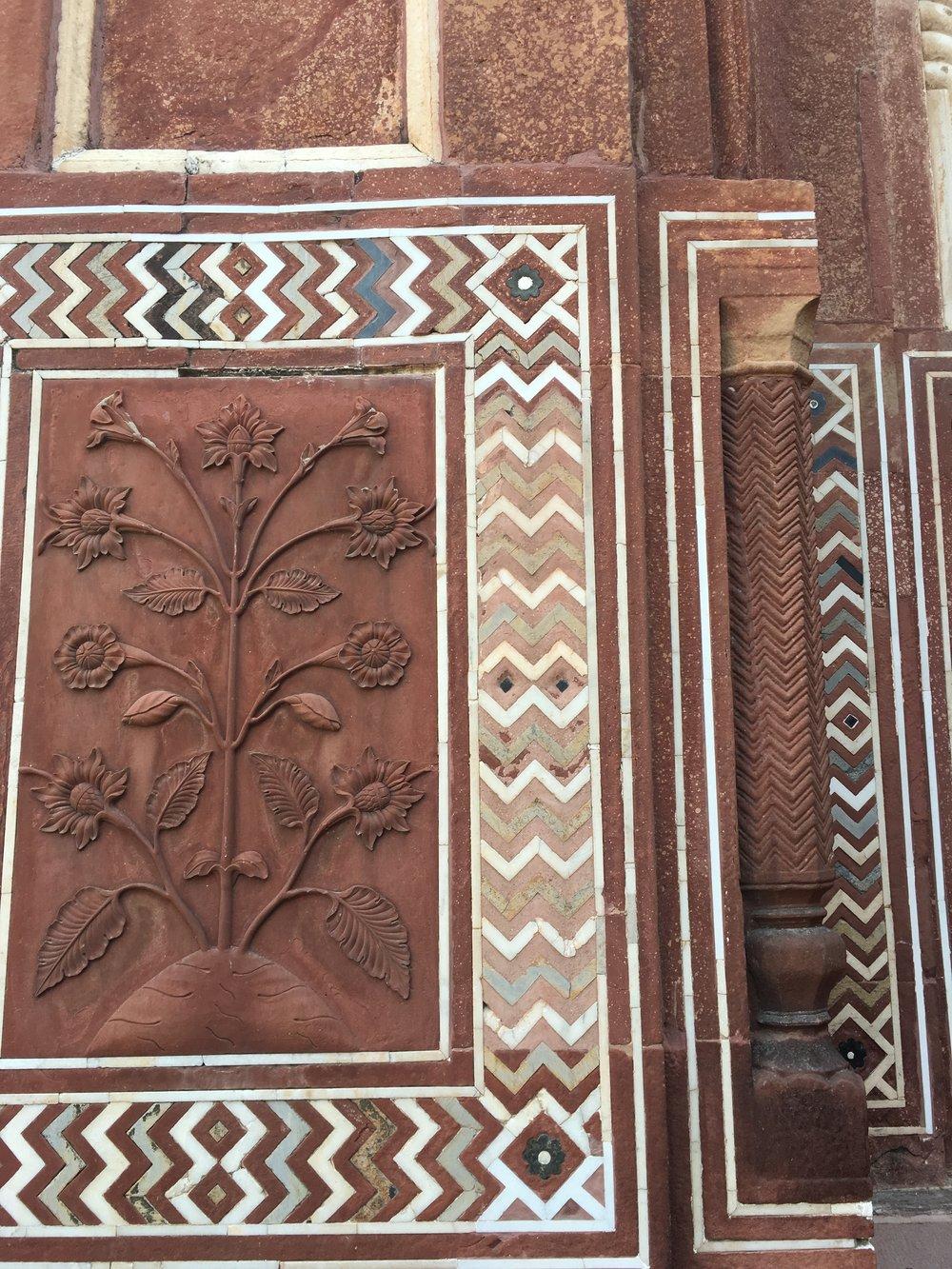 Details on the western gate, Taj Mahal