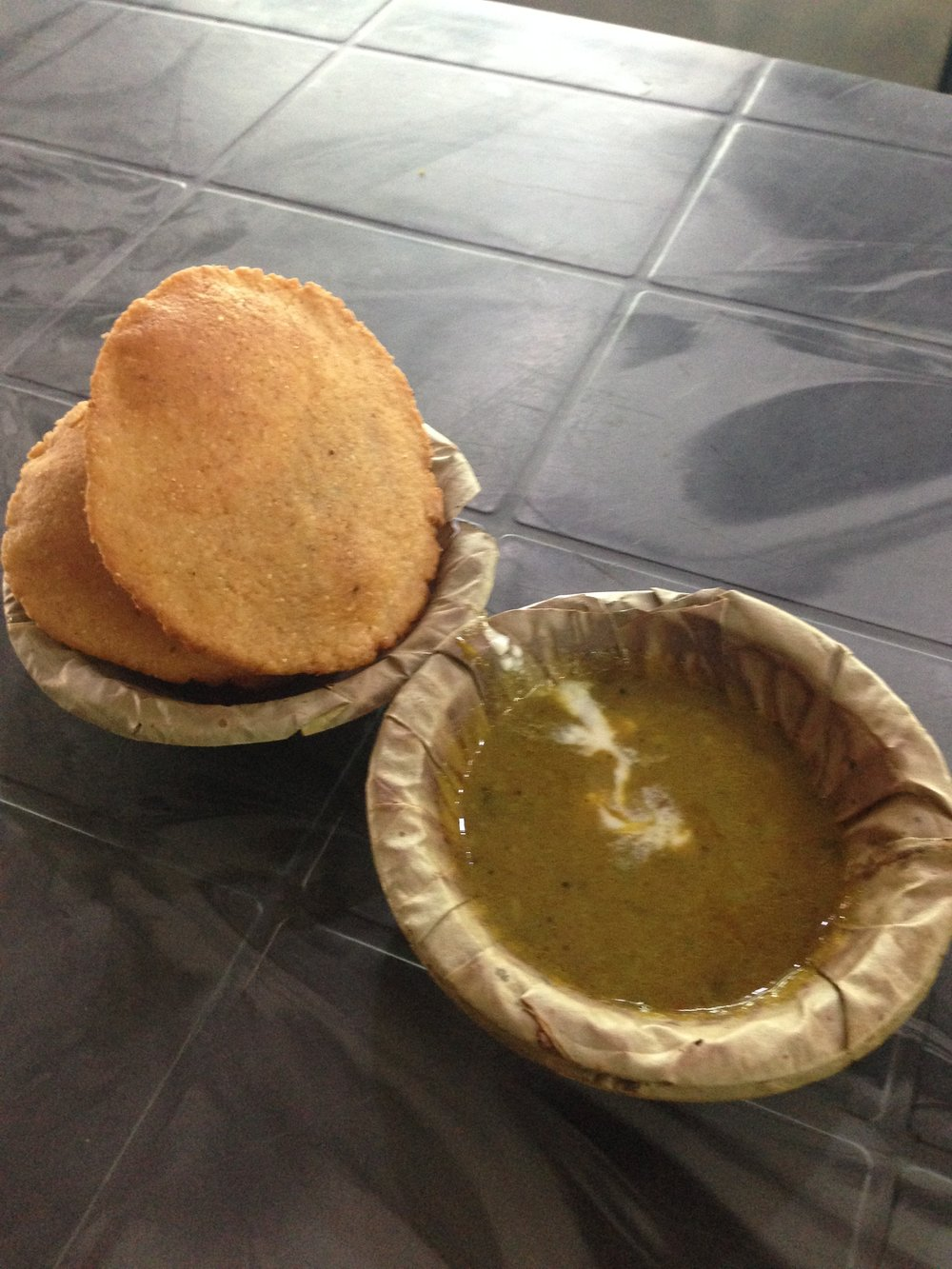 Typical Indian breakfast
