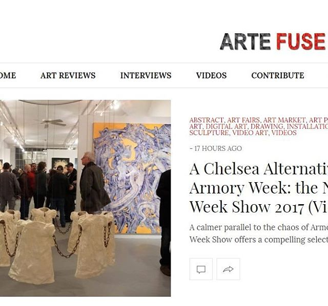 Writer Jennifer Wolf reviewed Art takes Manhattan´s show, today on ArteFuse.com #NewYorkArtWeek #NewYorkArtWeekShow #armoryweek #ArmoryShow #armory #HighLineOpenStudios #HighLine #highline
