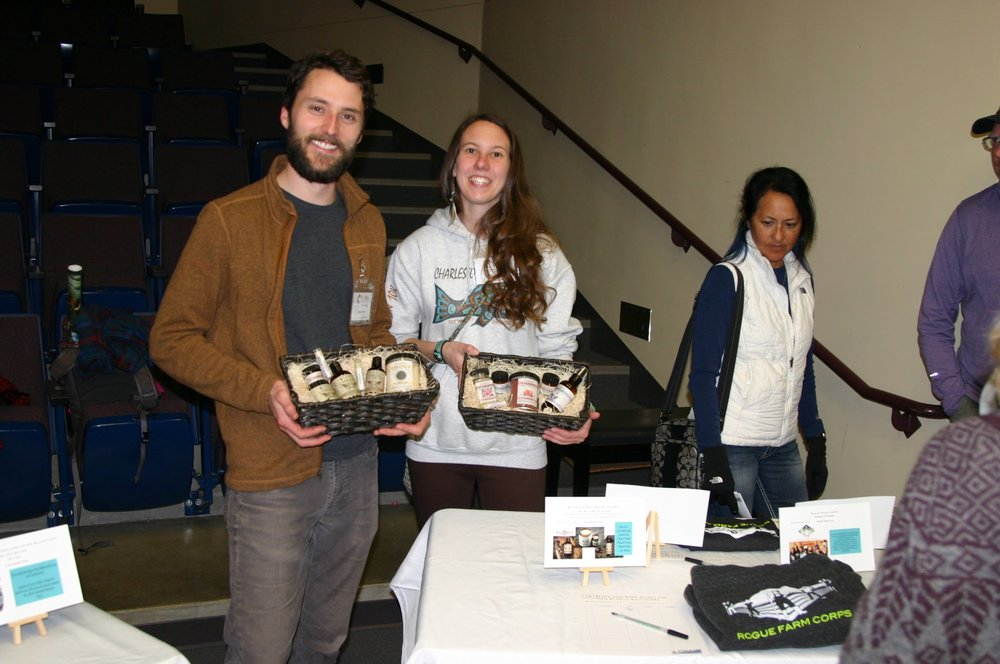 Volunteers and FilmFest attendees enjoying the silent auction! Photo credit: Mark Flynn