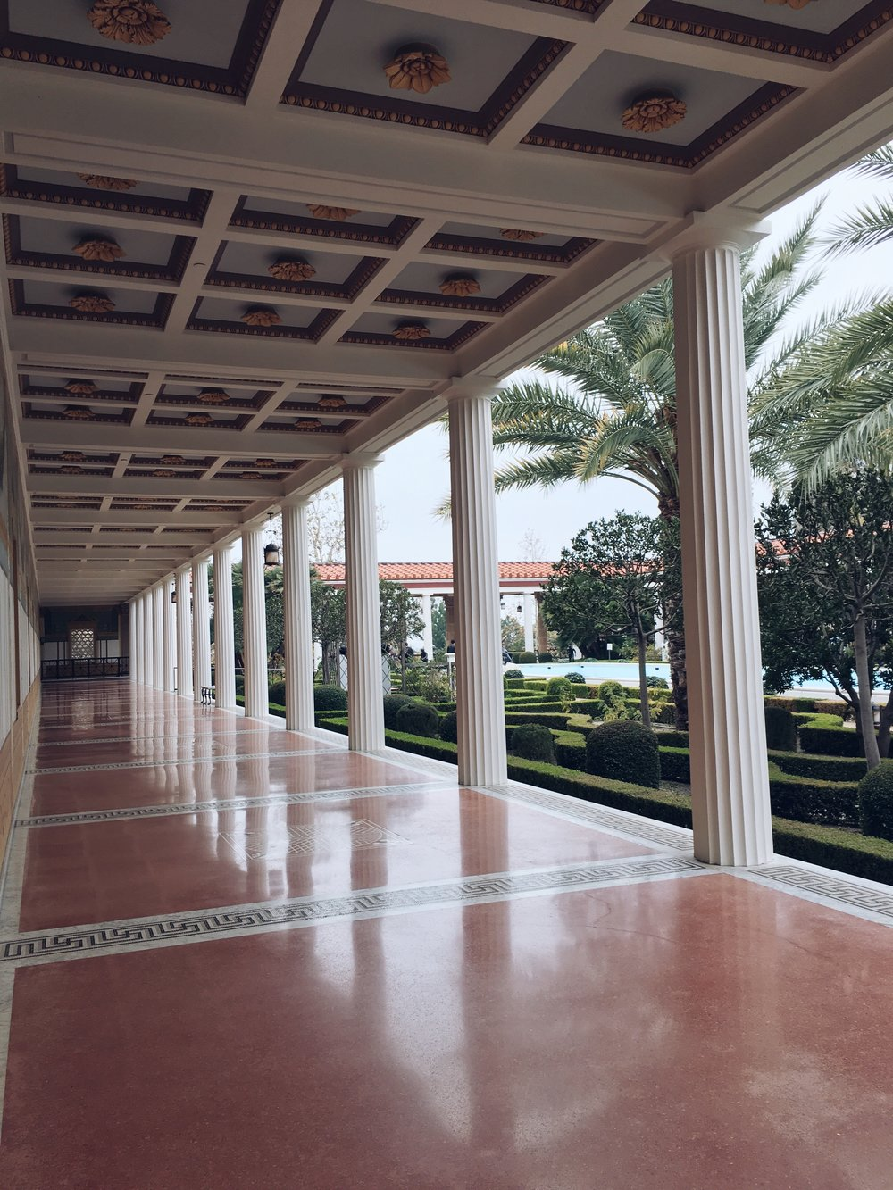 Columns at the Getty Villa