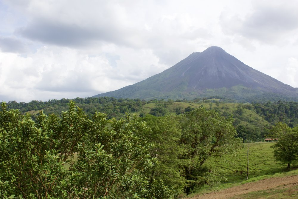 The amazing Arenal Volcano in San Carlos, Costa Rica.