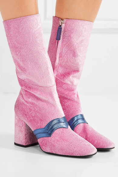 I'm Here to Party Pink Velvet Boot.jpg