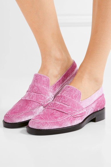 The Alternative to Bare Feet Pink Embossed Velvet .jpg
