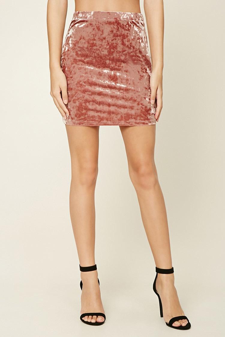 Crushed Velvet Skirt .jpg