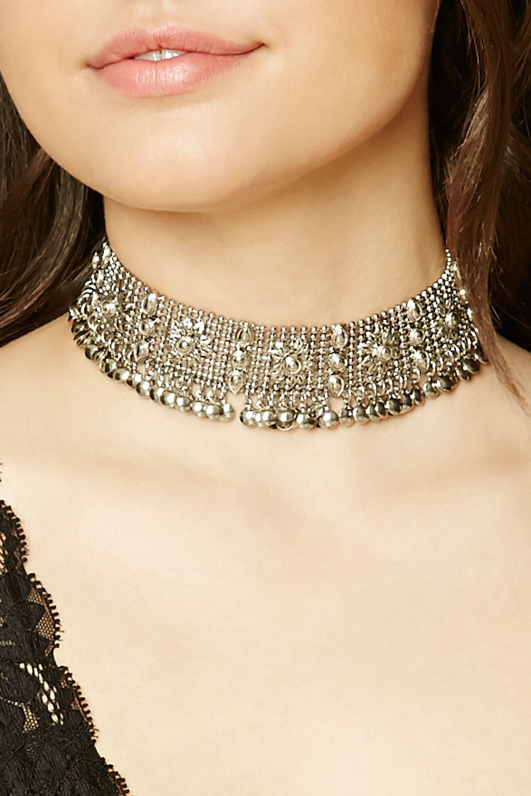 Ball anc Chain Metal Choker $15.jpg