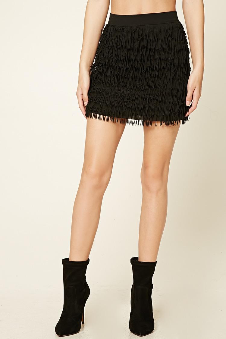 Layered Tassel Mini Skirt $22.jpg