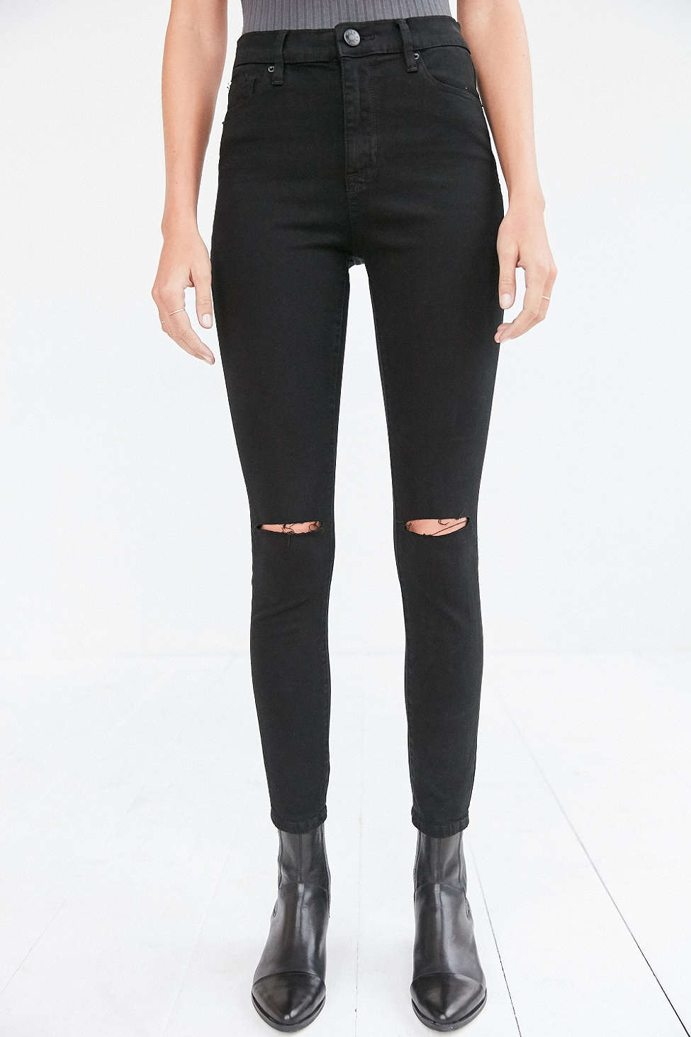 Levi's Ripped Black Skinny Jeans