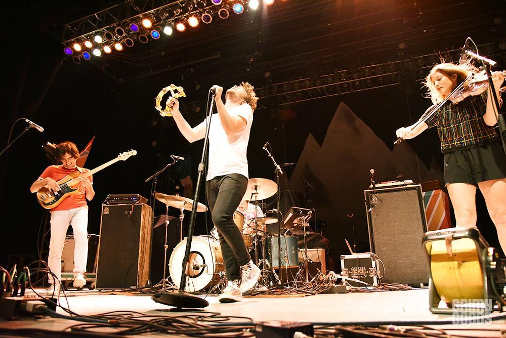 Ra Ra Riot killing it on stage!  Photo courtesy of Grimy Goods
