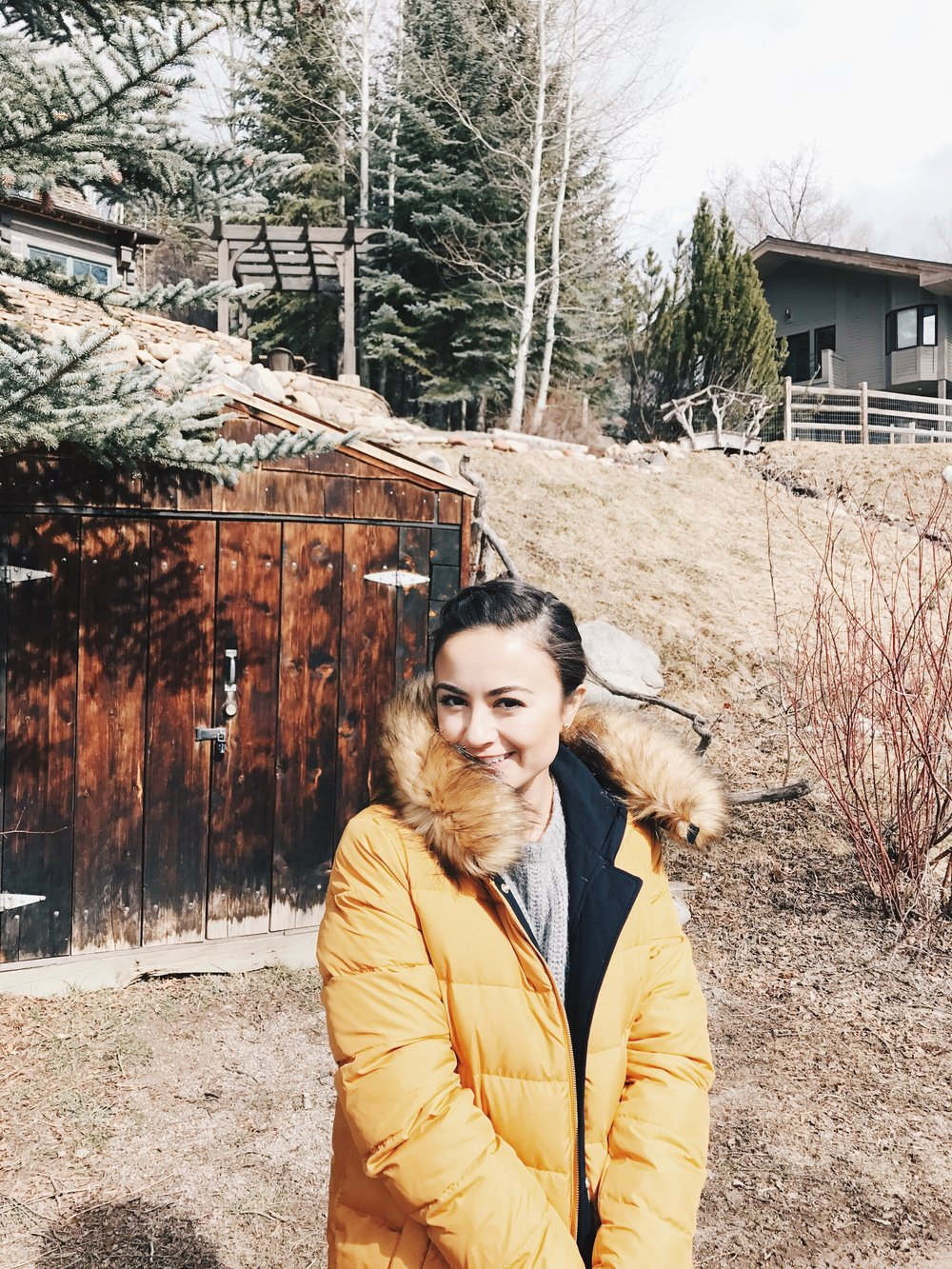 Me being all Little House on the Prairie, Aspen style.