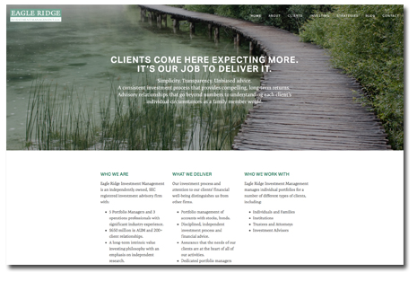 Website design:  Eagle Ridge Investment Management