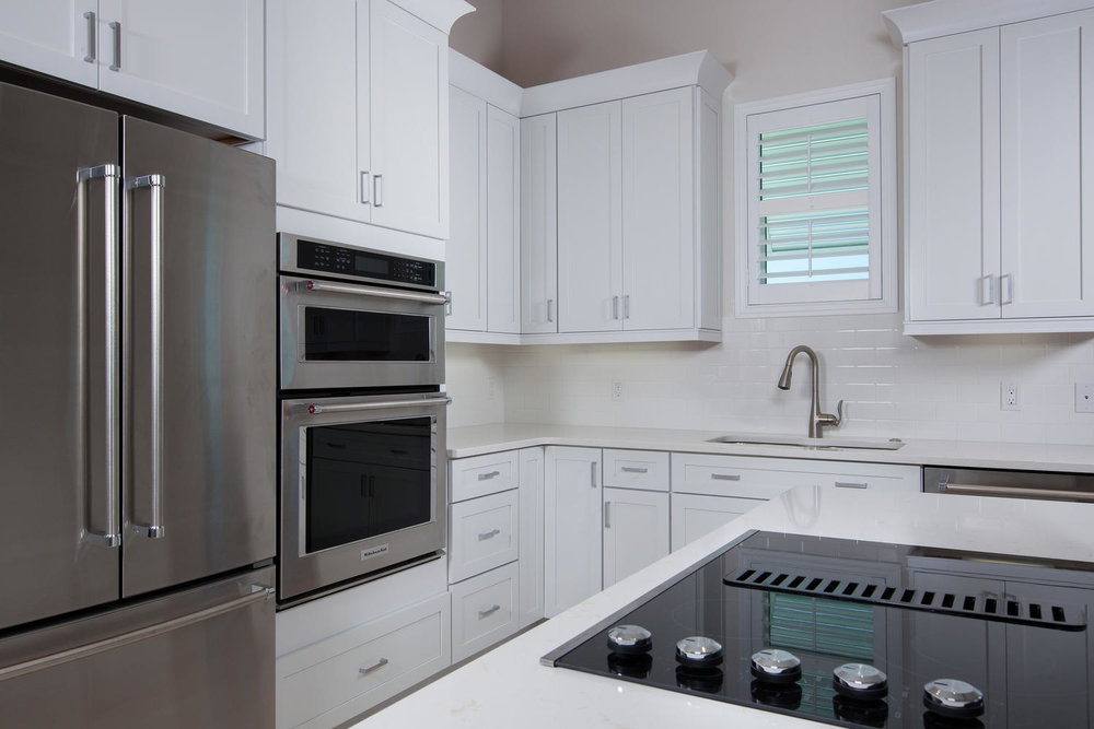 Kitchen in Pearl Street Cottage New Construction by Nease