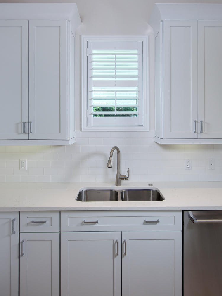 Kitchen Sink in Pearl Street Cottage New Construction by Nease
