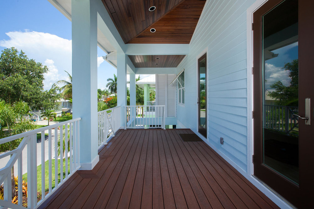 Porch in Pearl Street Cottage New Construction by Nease