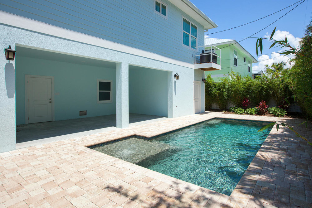 Pool in Pearl Street Cottage New Construction by Nease