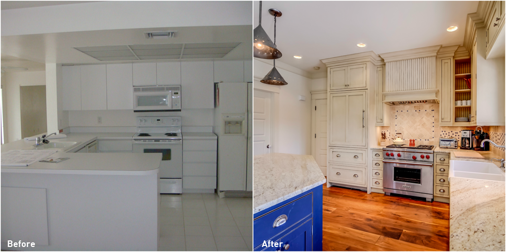 Glenview Manor Before and After Kitchen Renovation